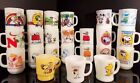 Vintage  Fire King Snoopy Cup Mug Full Set of 23 Anchor Hocking Peanuts Gang