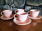 Fiesta Fiestaware Excellent Set of 4 Retired Apricot Coffee Tea Cups and Saucers