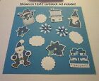 Blue Christmas 1 Printed Paper Pieces SetGreat for pages cards