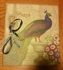 New Vibrant Peacock Photo Album with Lace and Ribbon Accent -180 4