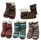 Womens Winter Warm Cotton Fur Lining Knit Indoor Outdoor House High Boot Shoes
