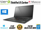Lenovo ThinkPad X1 Carbon 1st Gen 240GB SSD i7 3667U Win 10 Laptop Touchscreen