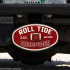 Alabama Crimson Tide FREE SHIP Football National Champions Car Truck Hitch Cover