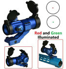 Anodized All Blue Finish Tactical 35mm Red Green Dot Reflex Optic Sight