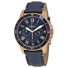 Fossil Grant Sport Chronograph Blue Dial Mens Watch FS5237