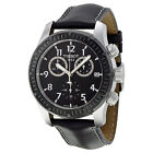 Tissot V8 Chronograph Black Dial Black Leather Mens Watch T0394172605700