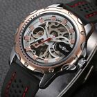 WINNER Sports New Transparent Skeleton Analog Automatic Mechanical Wrist Watch