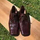 Stacy Adams 11 M Genuine Snake Leather Brown Dress Shoes Oxfords Mens