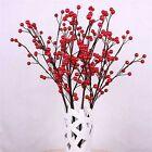 100Pcs Mini Berry Manmade Holly Berries 10mm Home Bouquet Christmas Decor Lots