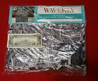 WAVERLY BLACK PAISLEY PIZZAZZ COLLECTION TABLE RUNNER REVERSIBLE W/4 NAPKINS NEW