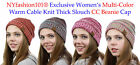 CC Beanie NYfashion101® Exclusive Women's Multi Color Cable Knit Thick Slouch
