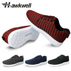 Hawkwell Mens Light Weight Comfortable Fashion Sneaker Mesh Lace up Casual shoe