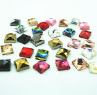 300pcs 37 37MM Hot fix Crystal Glass Rhinestone Square Loose Beads Flatback