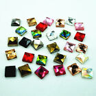 300pcs 54 54MM Hot fix Crystal Glass Rhinestone Square Loose Beads Flatback