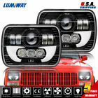 Pair 5x7 7x6 LED Headlight High Low Sealed Beam for Jeep XJ YJ Cherokee GMC