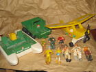 Vintage 1970s Fisher Price Adventure People toy lot 3 vehicles
