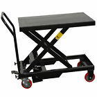 Black Bull HTCART Hydraulic Scissor Lift Table Cart Holds Up To 660lbs