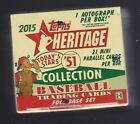 2015 Topps Heritage '51 Collection Baseball SEALED HOBBY BOX w AUTO