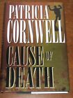 1996 CAUSE OF DEATH Patricia Cornwell Signed Autographed Hardcover dust Jacket