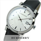 Burberry Men's The City Swiss Silver Tone Black Leather 38mm Watch BU9008