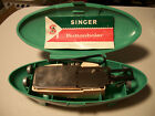 Vintage Singer Buttonholer 2482607 With Attachments and Clamshell Case