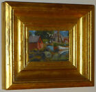 GIRAGOS DER GARABEDIAN MINIATURE PAINTING ROCKPORT MASSACHUSETTS FISHING BOATS