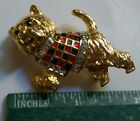 CRYSTAL ACCENTED MMA METROPOLITAN MUSEUM OF ART DOG BROOCH PIN