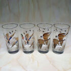 Set of 4 Vintage Libbey Sportsman Game Bird Highball Bar Glasses