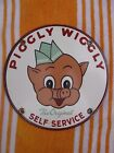 7 Piggly Wiggly Grocery Store Old Market Porcelain 1970s Advertising Sign