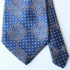 Paul Stuart Blue Tie with Multicolor Tennis Motif 100 Silk Made in USA