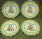 4 FITZ & FLOYD WINTER HOLIDAY SANTA PORTRAIT SANTA CLAUS LUNCH OR DESERT PLATES