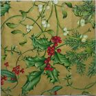 CHRISTMAS WINTER FOLLIAGE 2 single LUNCH SIZE paper napkins for decoupage 3 ply