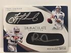 2017 Immaculate Troy Aikman Michael Irvin Dallas Cowboys Eyeblack Patch Auto 4 5