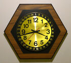 SETH THOMAS 31 DAY CALENDAR WALL CLOCK MID-CENTURY MODERN HEXAGON VINTAGE 1960s