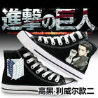 Anime Attack on Titan Cosplay Casual Sports Sneakers Canvas Shoes Unisex Black