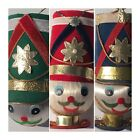 Vintage Soldier Christmas Ornaments Each Unique Made Japan Set of Three Size 5