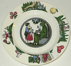 ANTIQUE NOUVEAU GRIMMS FAIRY TALE CHILDRENS SANDWICH PLATE SOUP BOWL CHINA SET