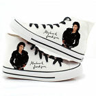 Michael Jackson Canvas Shoes Hand Painted Punk Rock Lovers Casual Sneakers