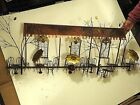 Curtis Jere Mid Century Modern metal Wall Sculpture Bistro sidewalk cafe shop