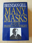 Many Masks  A Life of Frank Lloyd Wright by Brendan Gill 1987 Signed 1st Ed