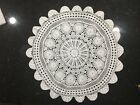 Large Vintage Hand Crochet Doily In White 28 diameter