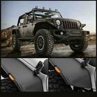 4x Textured Extender Flat LED Fender Flares For 07 18 Jeep JK Wrangler Unlimited