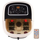 Foot Spa Bath Massager Tem Time Set Heat Bubble Vibration Water Fall W 4 Roller