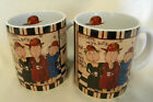 BUZZ CAFE Coffee Mugs Lang and Wise We Want More Coffee Dan DiPaolo Lot of 2
