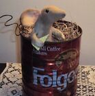 primitive folk art antique handmade artist mouse ornie doll vintage coffee can
