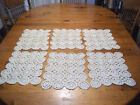 6 Vtg Ecru Hand Crochet Matching Place Mats13 X 5Estate Items