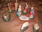 Very Vintage Nativity Set Manger Scene Chalkware Figures Wowee
