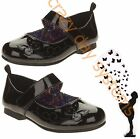 NEW Mary Jane Dress Black Patent Leather Shoe Butterfly Size 7 Toddler Girls