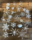 Vintage Hand Crocheted Christmas Ornament Doilies Lot Of 25