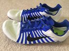 NWOB Nike Zoom D Distance Track Spikes Mens 105 White Blue